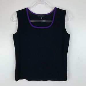 MING WANG Knit Sleeveless Top Small M3987